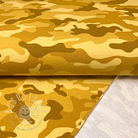 Sommersweat Camouflage yellow