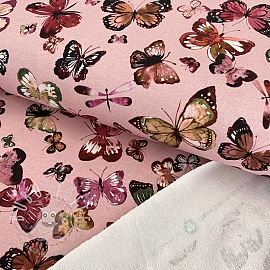 Sommersweat Butterflies rose digital print