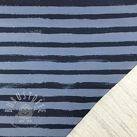 Sommersweat Groovy stripes blue