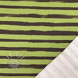 Sommersweat Groovy stripes green