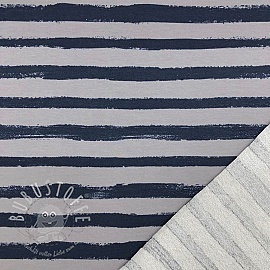 Sommersweat Groovy stripes stone