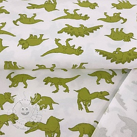 Sommersweat Powerful dinosaurus white