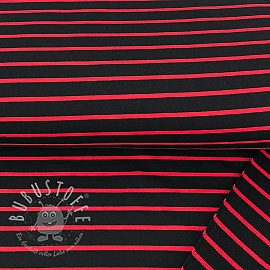 Sommersweat Stripe black/red