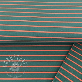 Sommersweat Stripe green/coral