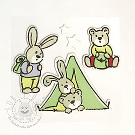 Sticker BASIC Bunny & Teddy