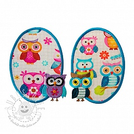 Sticker BASIC Owls 2 st PATCH