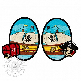 Sticker BASIC Pirat Boat 2 st PATCH