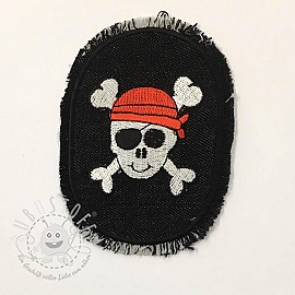 Sticker BASIC Pirat Skull PATCH
