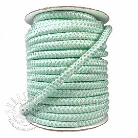 Twisted kordel ZIG ZAG light mint