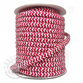 Twisted kordel ZIG ZAG red