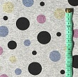 Sommersweat Magical dots grey melange