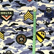 Sommersweat Camouflage stickers khaki