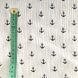 Double gauze/musselin Anchor white/navy
