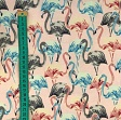 Sweatstoff Modal Flamingo light blue